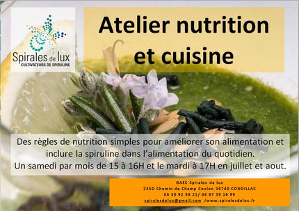 Atelier nutrition spiruline
